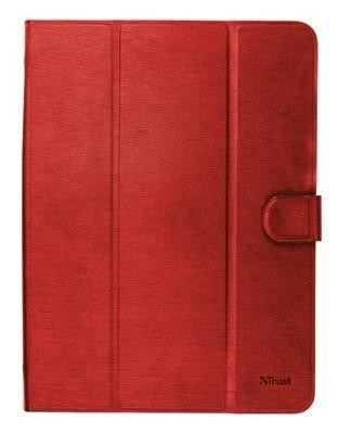 """TABLET SLEEVE FOLIO AEXXO/RED 10.1"""" 21206 TRUST"""
