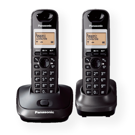 Panasonic Cordless KX-TG2512FXT Black, Caller ID, Wireless connection, Phonebook capacity 50 entries, Conference call, Built-in display, Speakerphone