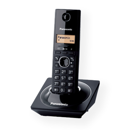 Panasonic Cordless KX-TG1711FXB Black, Caller ID, Wireless connection, Phonebook capacity 50 entries, Built-in display, Conference call,