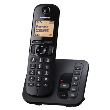 Panasonic Cordless KX-TGC220FXB Black, Built-in display, Speakerphone, Caller ID, Phonebook capacity 50 entries