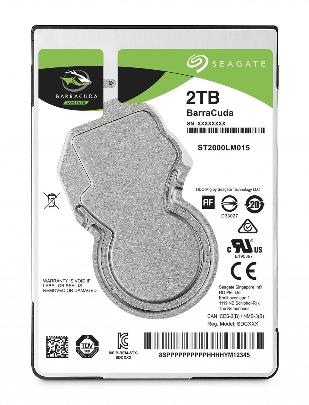 SEAGATE Barracuda 2TB HDD SATA 2.5inch
