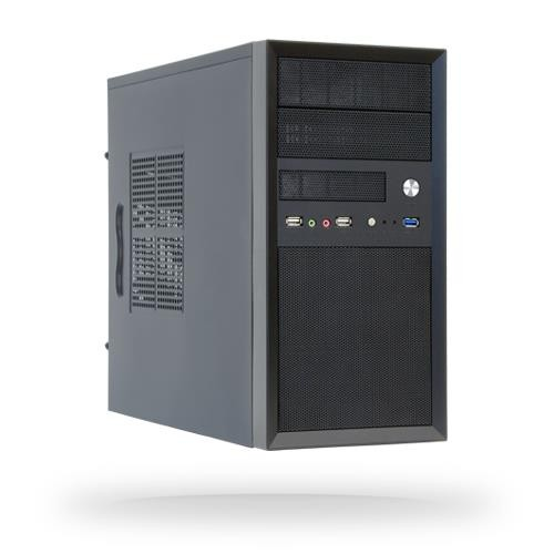Case|CHIEFTEC|MiniTower|MicroATX|Colour Black|CT-01B-OP