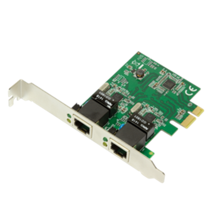 Logilink PC0075, 2-port Gigabit PCI Express network card Logilink 2 x Gigabit Lan (RJ 45) PCIe