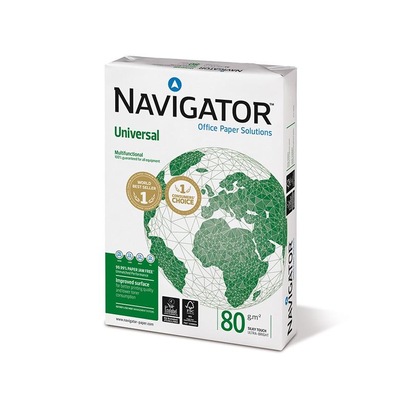 Koopiapaber Navigator Universal A4 80g/m2, 500 lehte 3Re