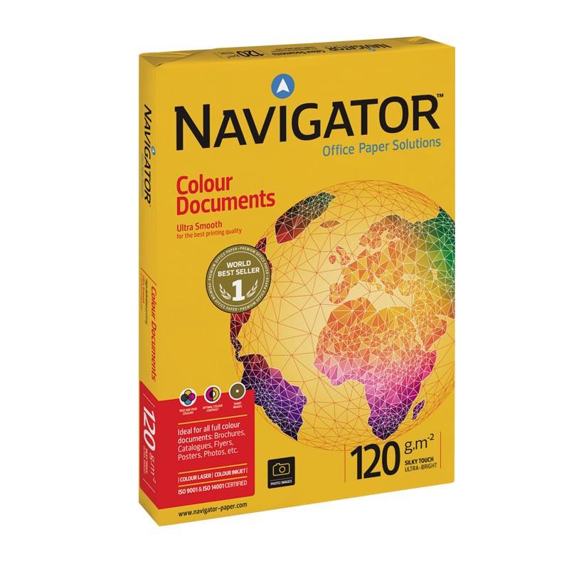 Koopiapaber Navigator Colour Documents A4 120g/m2, 250 lehte 3Re