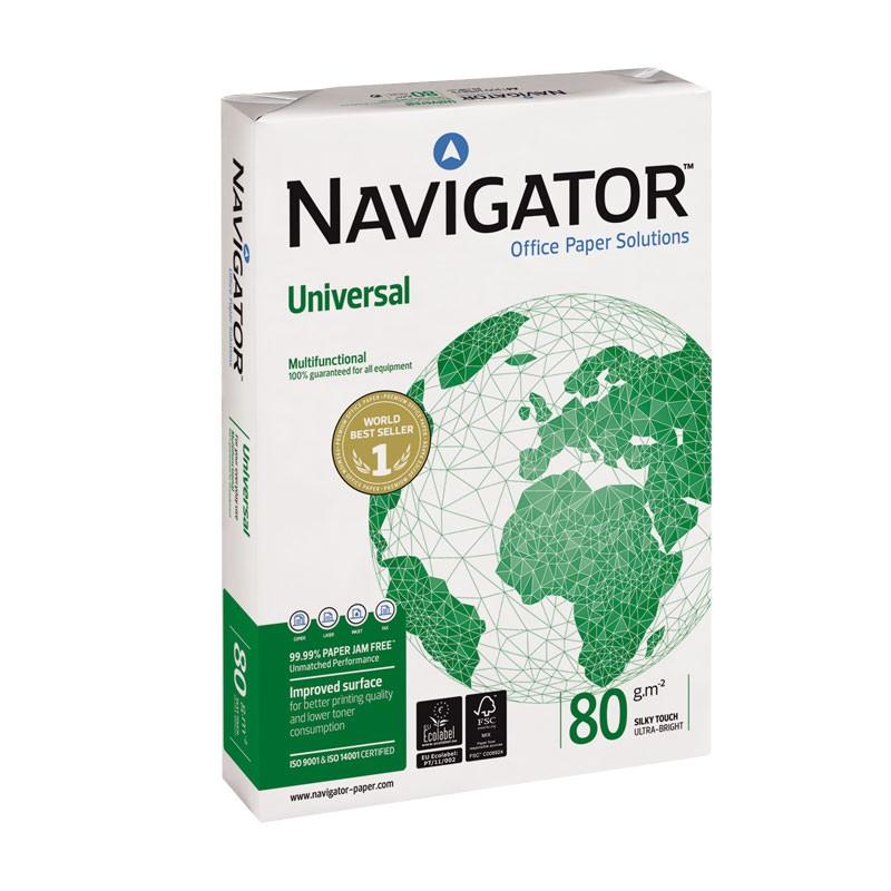 Koopiapaber Navigator Universal A5 80g/m2, 500 lehte 3Re