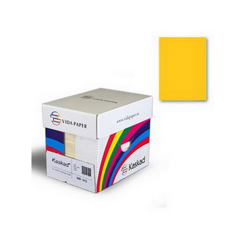 Värvipaber Kaskad A1, 64x90 cm, 225g/m2, 1 leht, sidrunikollane (nr.57)