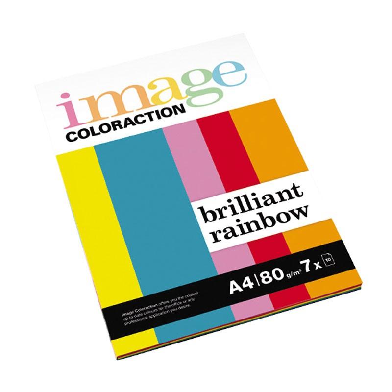 Värvipaber IMAGE Coloraction A4, 80g/m2, 7x10 lehte, briljantne vikerkaar