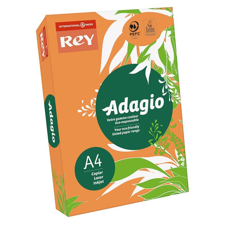 Värvipaber REY ADAGIO A4, 80g/m2, 500 lehte, heleoranž (nr.70)