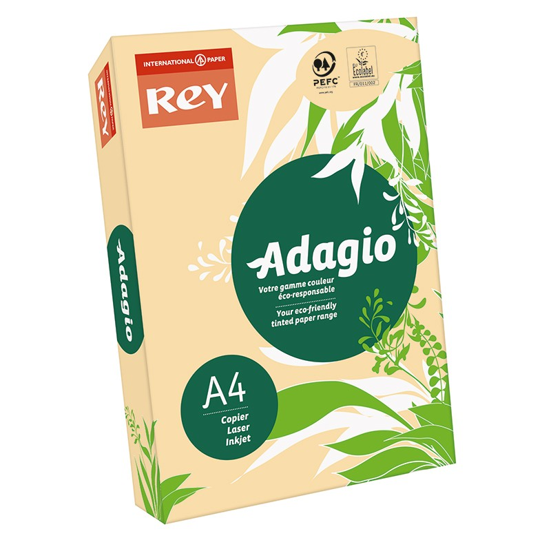 Värvipaber REY ADAGIO A4, 80g/m2, 500 lehte, lõheroosa (nr.08)