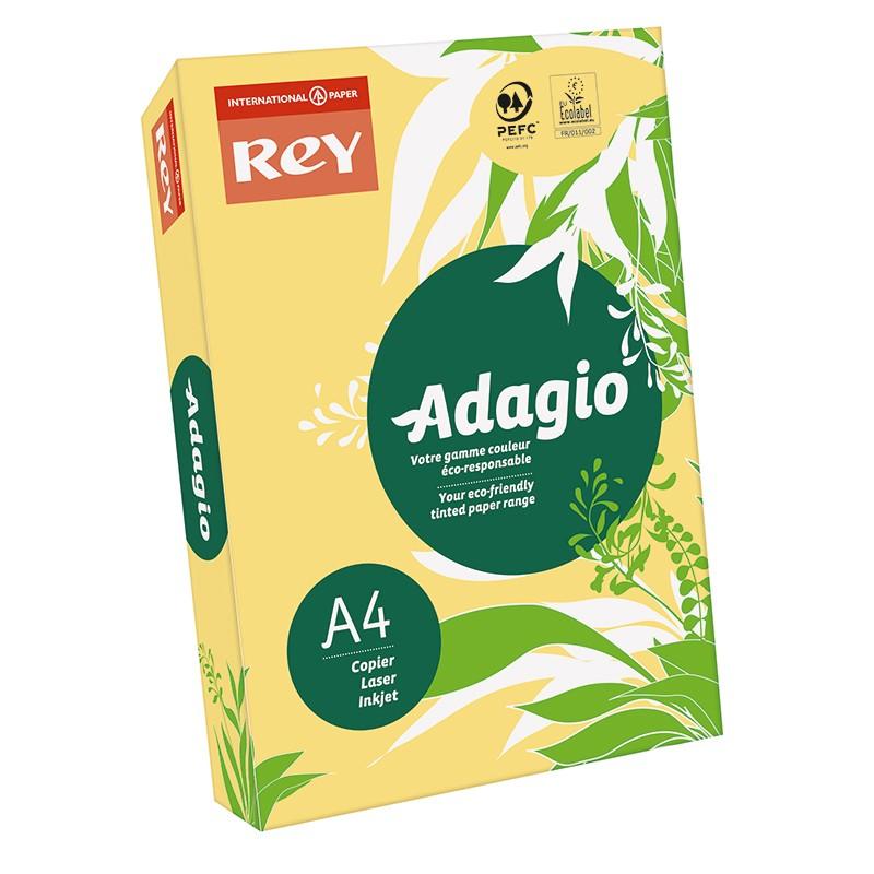 Värvipaber REY ADAGIO A4, 80g/m2, 500 lehte, tulika kollane (nr.02)