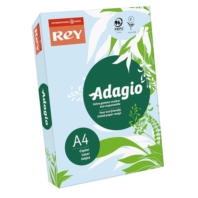 Värvipaber REY ADAGIO A4, 80g/m2, 500 lehte, sinine (nr.01)