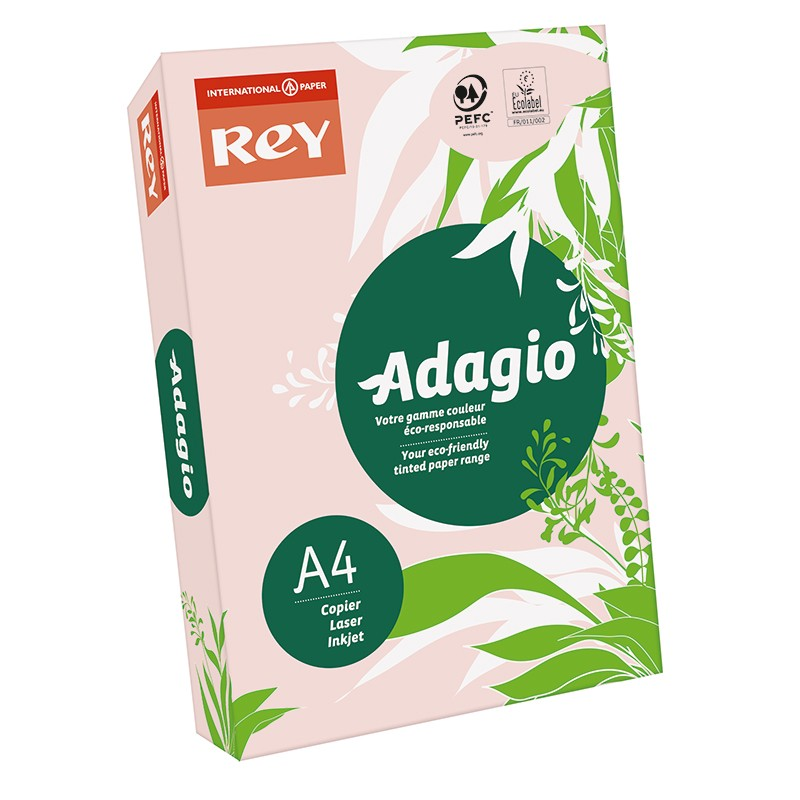 Värvipaber REY ADAGIO A4, 80g/m2, 500 lehte, roosa (nr.07)