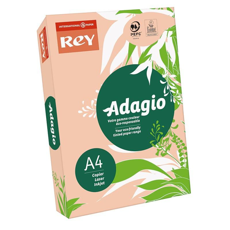 Värvipaber REY ADAGIO A4, 80g/m2, 500 lehte, virsiku kollane (nr.55)