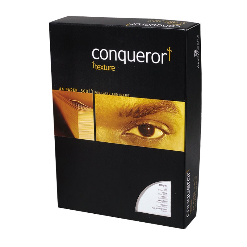 Tekstuurpaber Conqueror Texture Laid A4 100g Cream, 500l