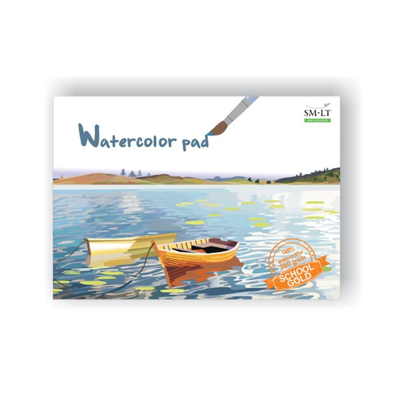 Joonistusplokk akvarell SMLT A4 200g, 20 lehte