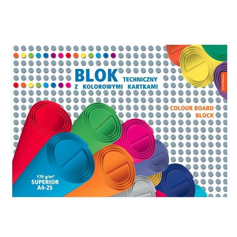 Värvikartong SUPERIOR KRESKA, A4, 170 g/m2, 25l
