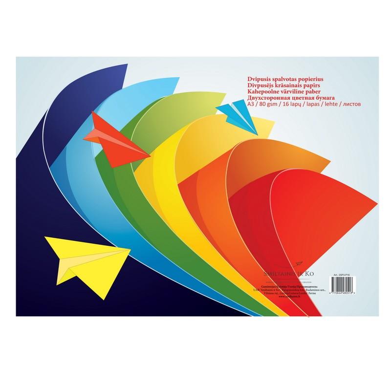 Värviline paber SMLT A3, 80g, 16l