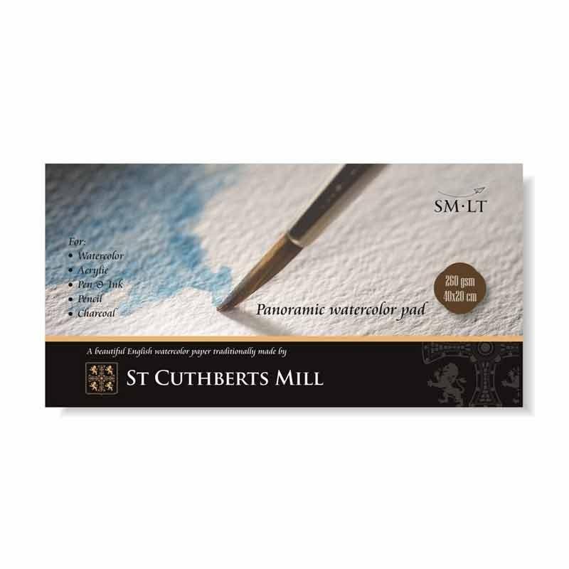 Joonistusplokk akvarell SMLT St Cuthbert`s mill, 20x40cm, 260g, 20lehte