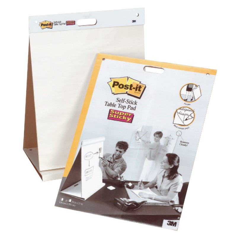 Pabertahvel Post-it 563, 508 x 584 mm, plokis 20 lehte