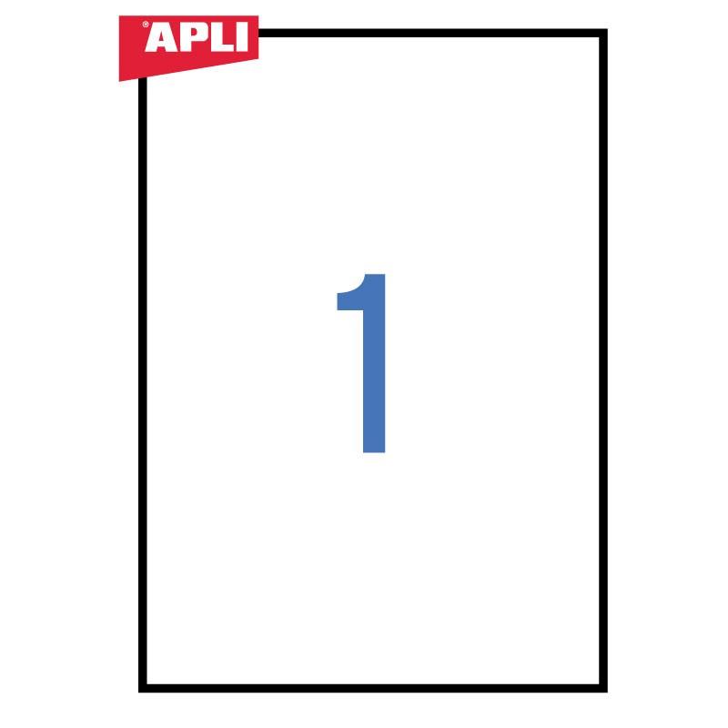 Etiketid Apli ILC iseliimuvad 210 x 297mm 25l/pk