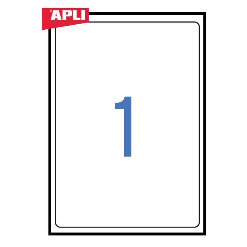 Etiketid Apli ILC 199,6 x 289,1mm 100l/pk, ümarad nurgad
