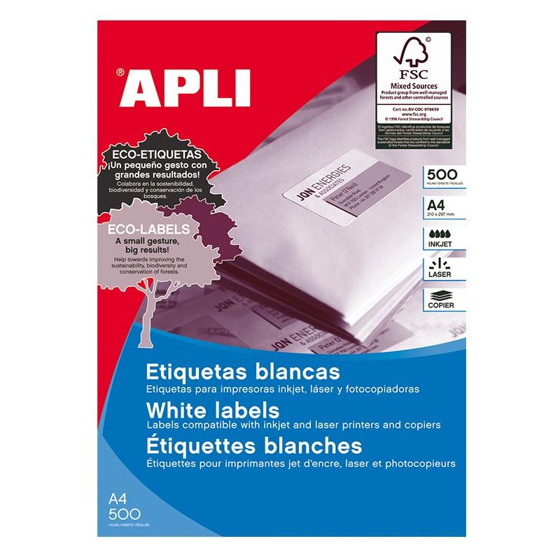 Etiketid Apli ILC iseliimuvad 105x74mm, 500l, valge