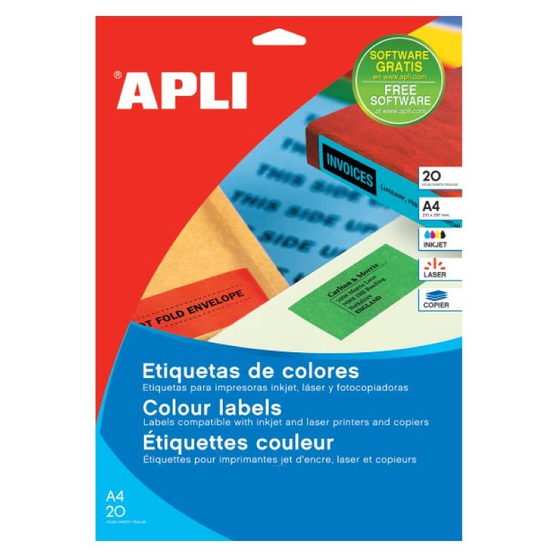 Etiketid Apli ILC iseliimuvad 70 x 37mm 20l/pk kollane