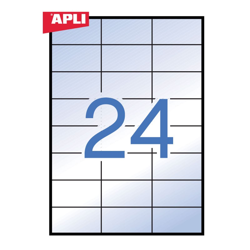 Etiketid Apli veekindlad, iseliimuvad 70 x 37mm 20l/pk läbipaistev