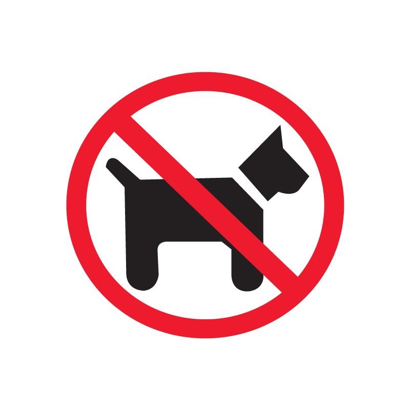 Etiketid Apli 114x114mm, koertega keelatud