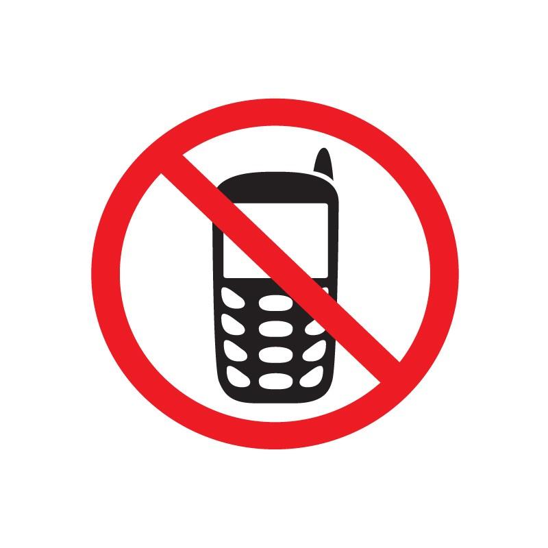 Etiketid Apli 114x114mm, mobiiltelefonide keeld