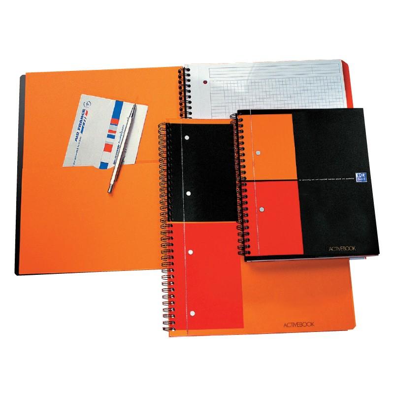 Spiraalköitega kaustik Oxford Activebook A5+, 80l. ruuduline