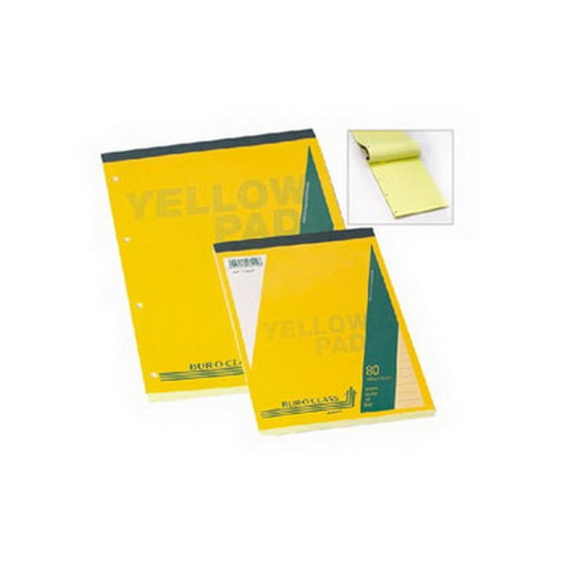 Märkmeplokk Aurora A4, 80 lehte, jooneline, kollased lehed, augustatud