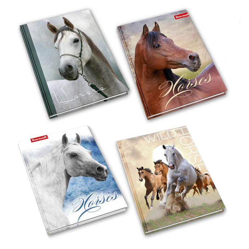 Kaustik Dan-Mark HORSES, A5, 60 lehte, jooneline
