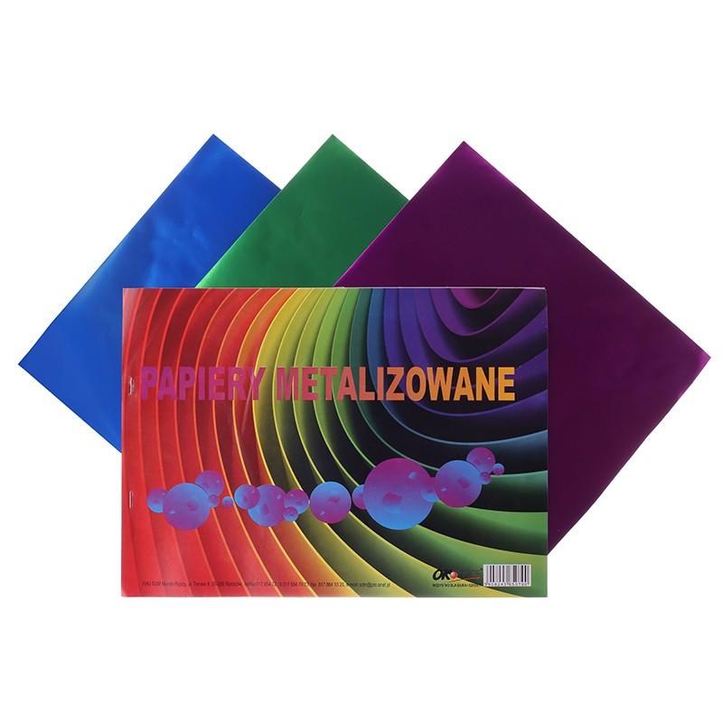 Värviline paber C4, 6 lehte, metallik toonid