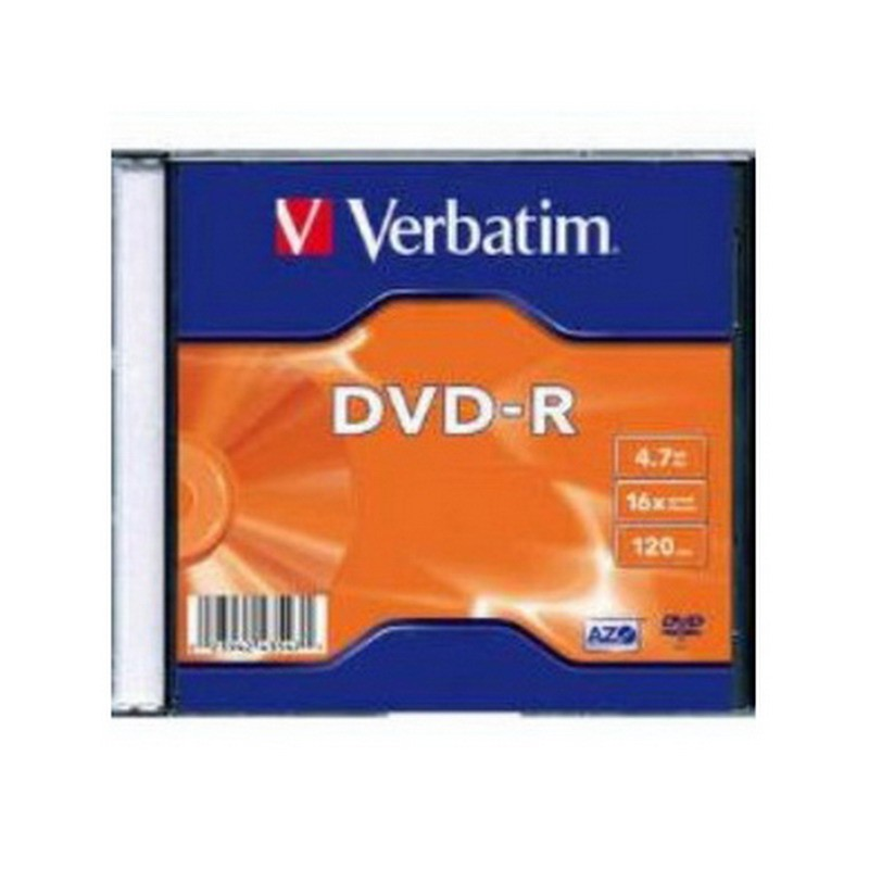 DVD-R Verbatim 4,7GB/16x Matt Silver, slim
