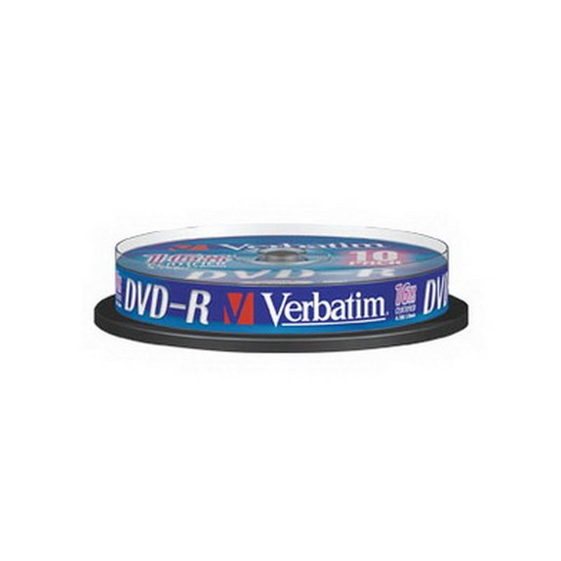 DVD-R Verbatim 4,7GB/16x Matt Silver, 10-ne torn