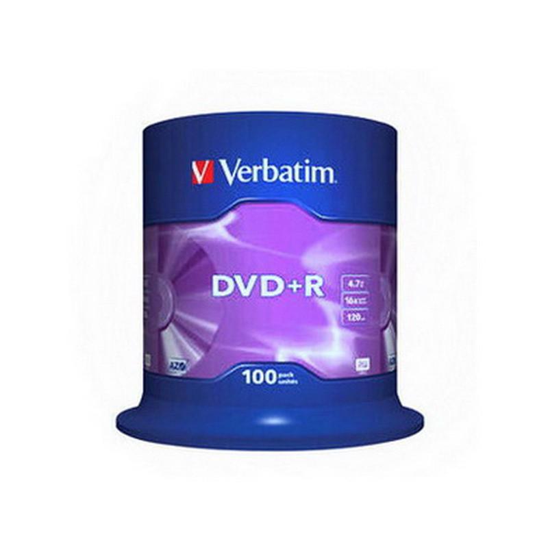 DVD+R Verbatim 16x 4,7GB 100-ne torn