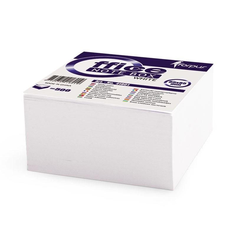 Märkmepaber Forpus 90x90mm, 500 lehte, valge liimitud