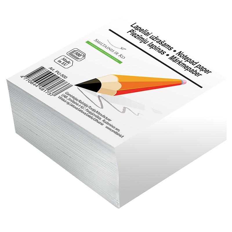 Märkmepaber Tehnoinform 9x9cm, täiteplokk, valge