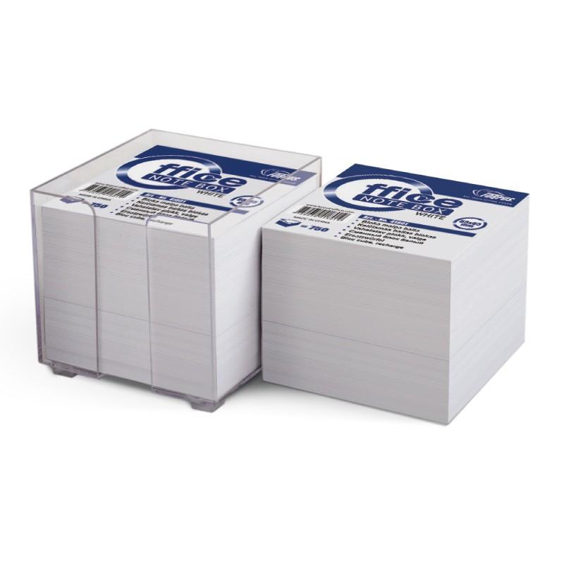 Märkmepaber Forpus 90x90mm, plastkarbis 800 lehte, valged lehed