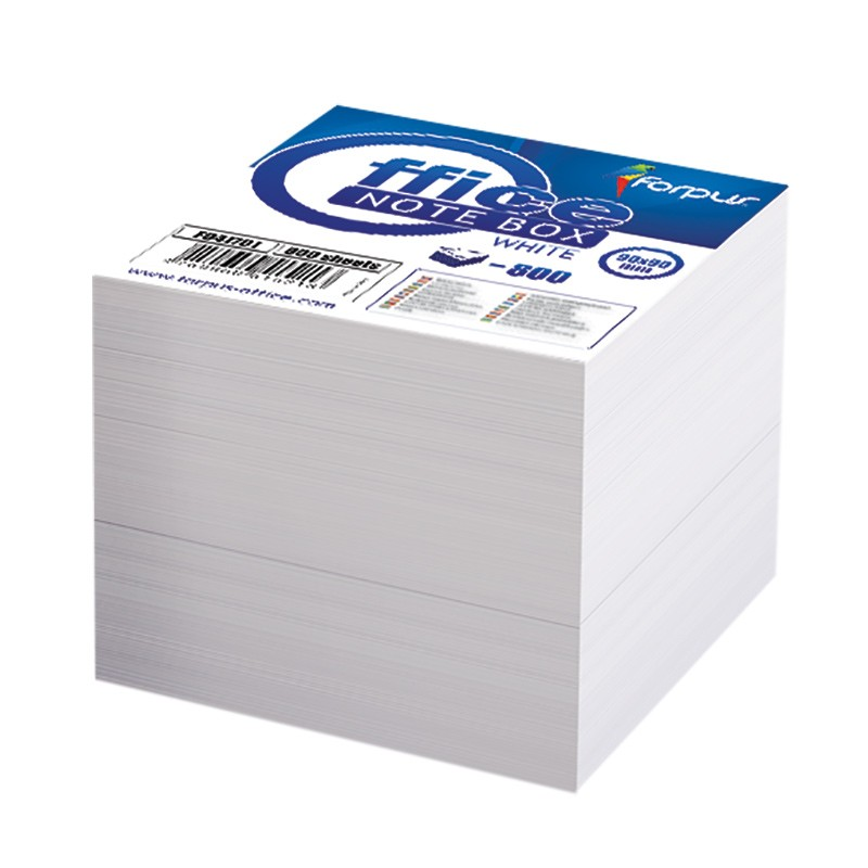 Märkmepaber Forpus  85x85mm täiteplokk valge, 800 lehte