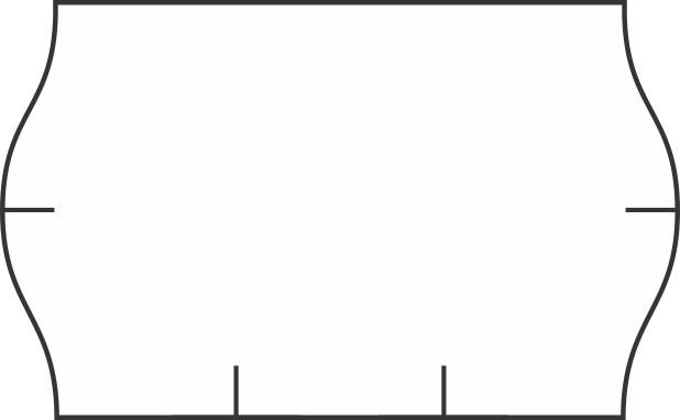 Markeerimislindid 26x16mm, valge, trükiga SROVE, 1000 tk