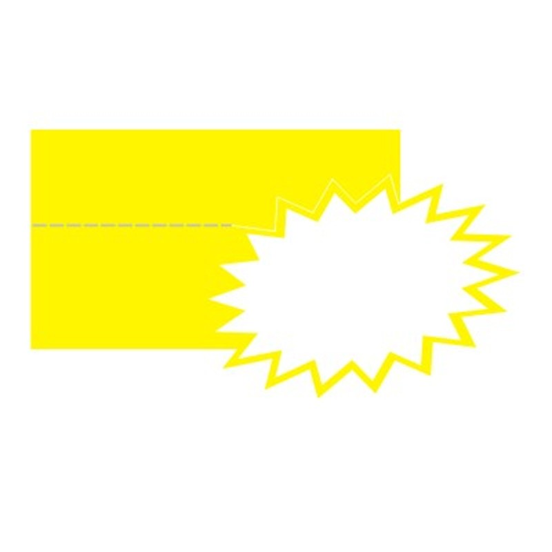 Hinnasildid CENTA, kartongist, kollane täht, 20tk/pk