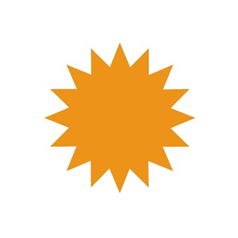 Hinnasildid CENTA, kartongist, oranž täht, diam.135mm 20tk/pk