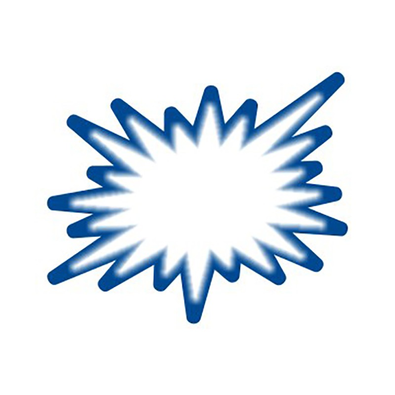 Hinnasildid CENTA, kartongist, valge/sinine täht, 20tk/pk