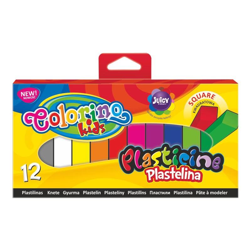 Plastiliin Colorino Kids, kandilised, 12 värvi
