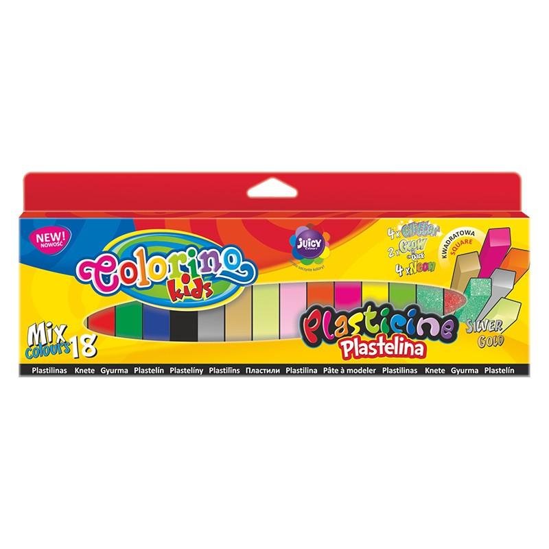 Plastiliin Colorino Kids, 18 värvi