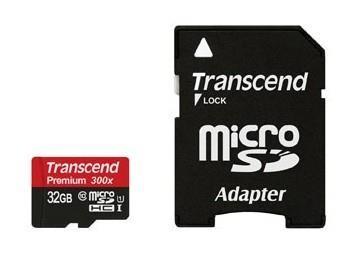 MEMORY MICRO SDHC 32GB W/ADAPT/CLASS10 TS32GUSDU1 TRANSCEND