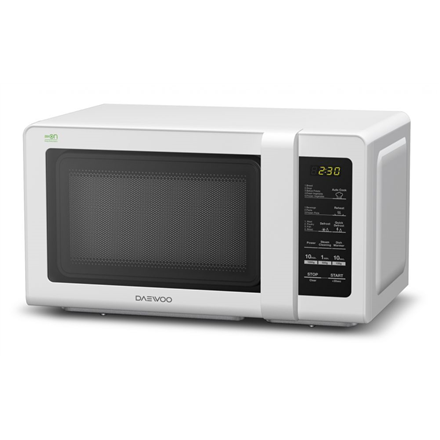 DAEWOO Microwave oven KOR-662BW 20 L, Touch control, 700 W, White, Defrost function, Free standing